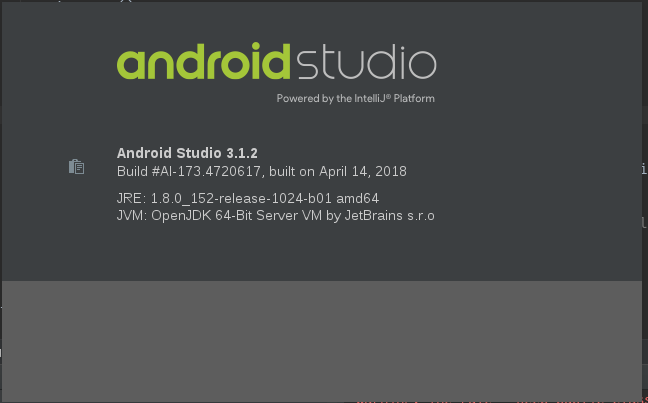 Android Studio versi 3.1.2